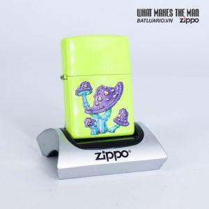Zippo 49189 - Zippo Mushroom Textured Print Neon Yellow 1