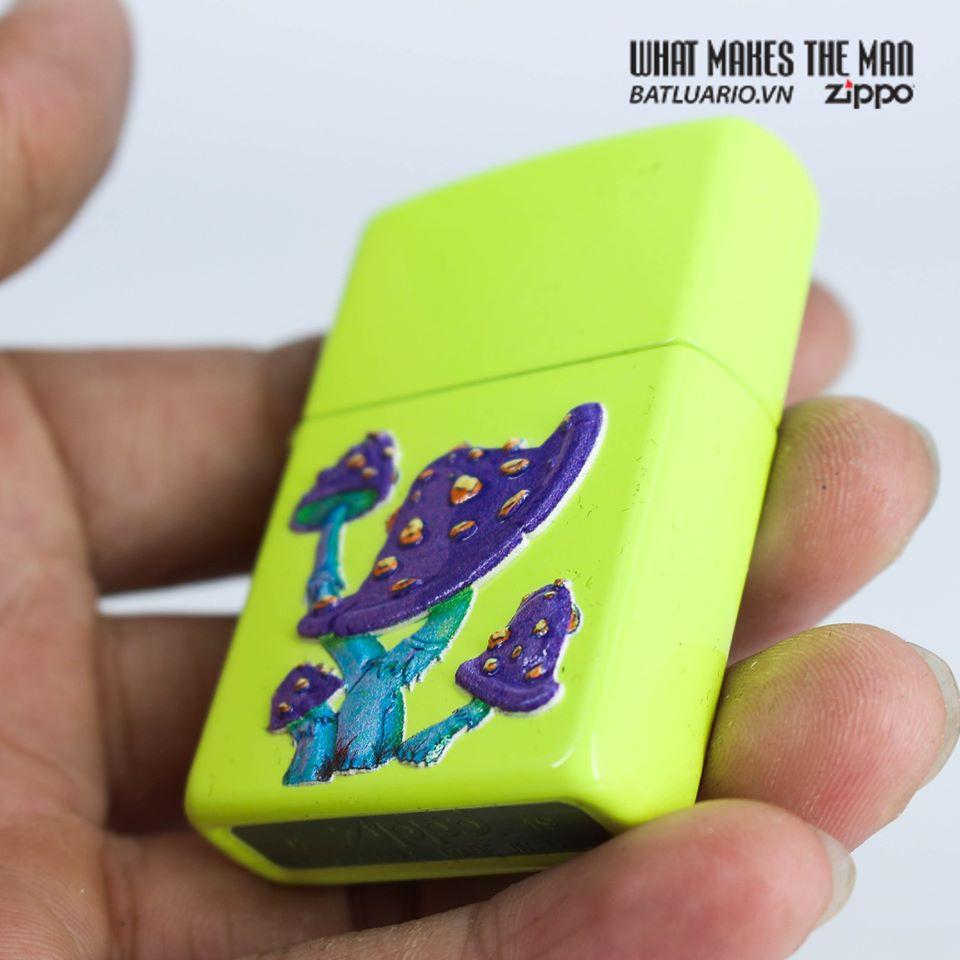 Zippo 49189 - Zippo Mushroom Textured Print Neon Yellow 6