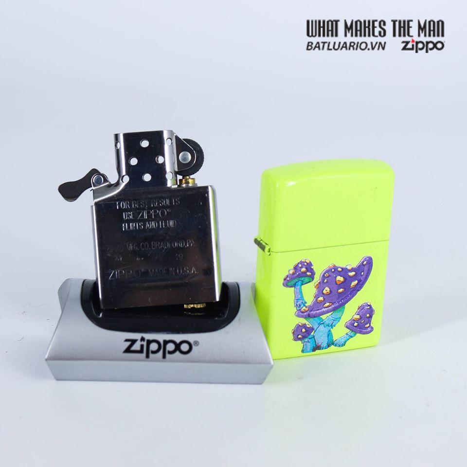 Zippo 49189 - Zippo Mushroom Textured Print Neon Yellow 9