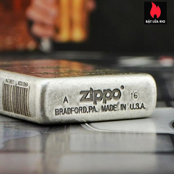 Zippo Bạc Giả Cổ 121FB Khắc Marlboro Light 5 Mặt - Zippo 121FB.MARL 6