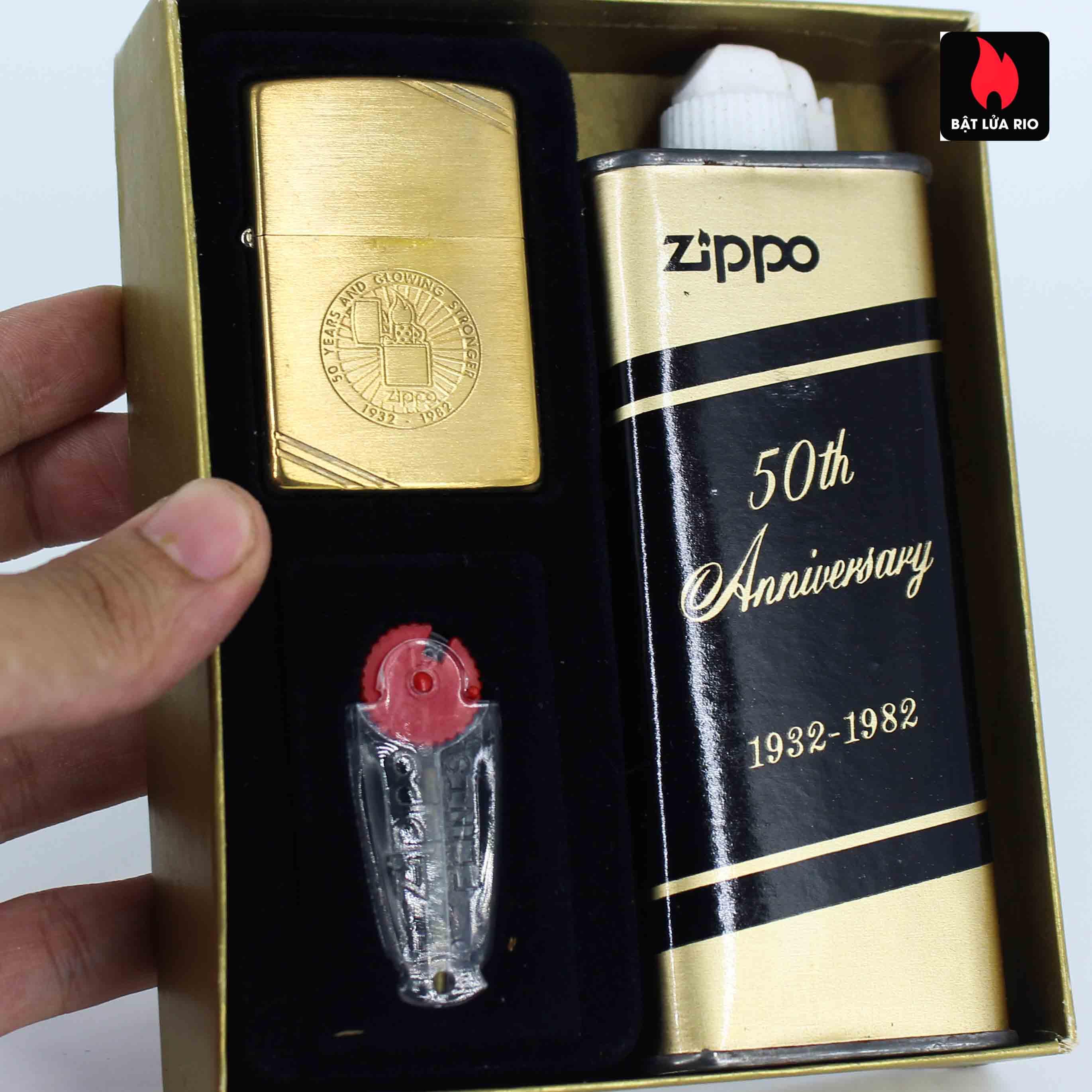 Zippo Chu Niên 1932 - 1982 - 50th Anniversary - Employee 1
