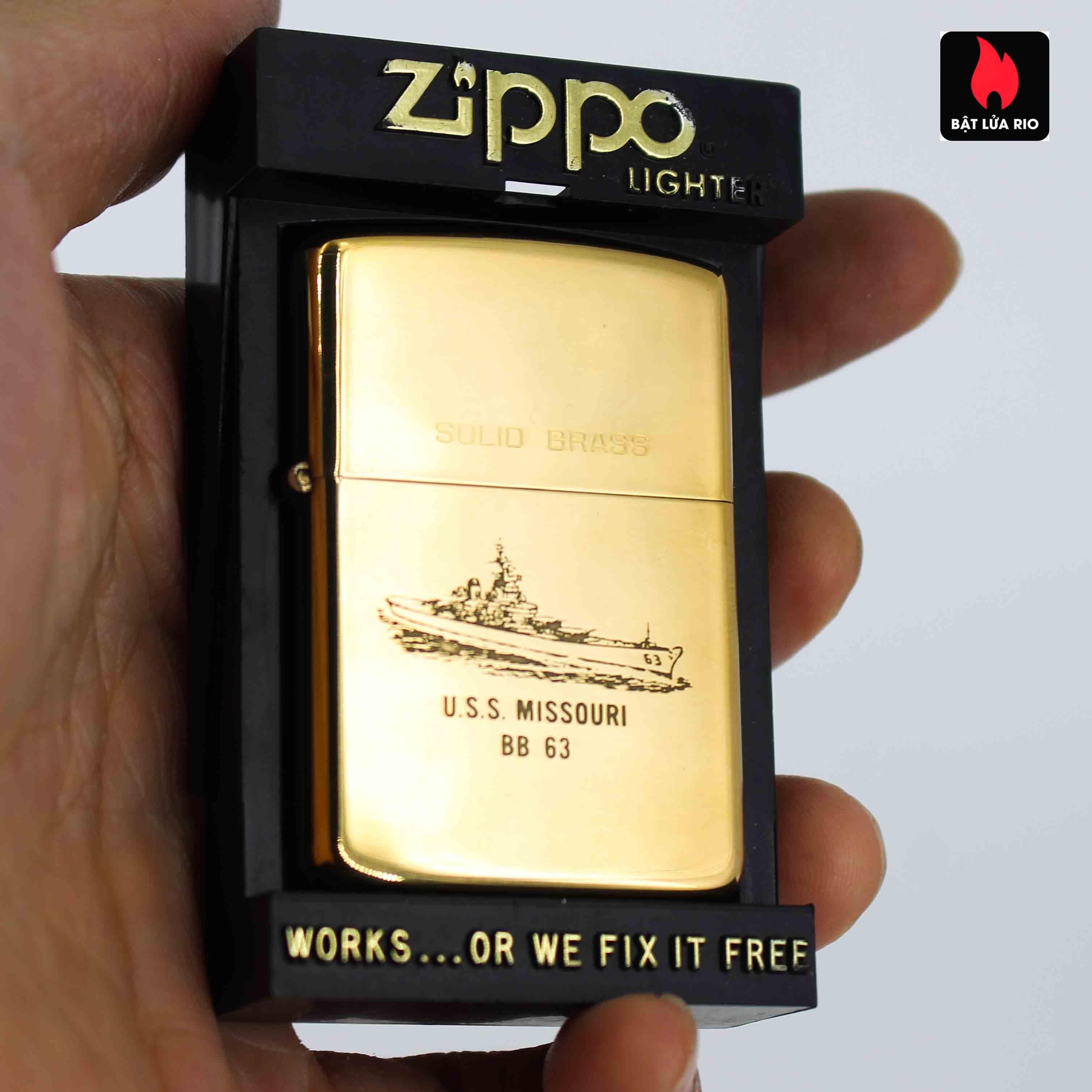 Zippo Chu Niên 1932-1986 - Uss Missouri BB 63 1