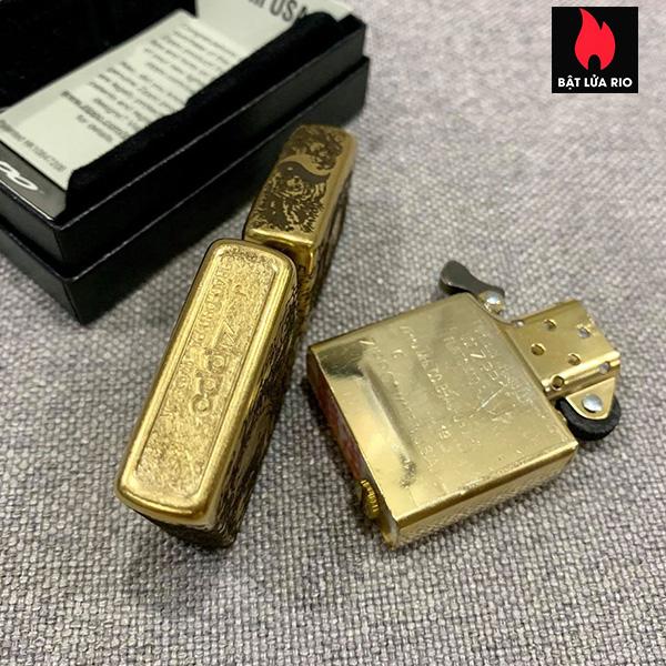 Zippo Gold Dust 207G Khắc Quan Vân Trường 5 Mặt - Zippo 207G.VANTRUONG 14