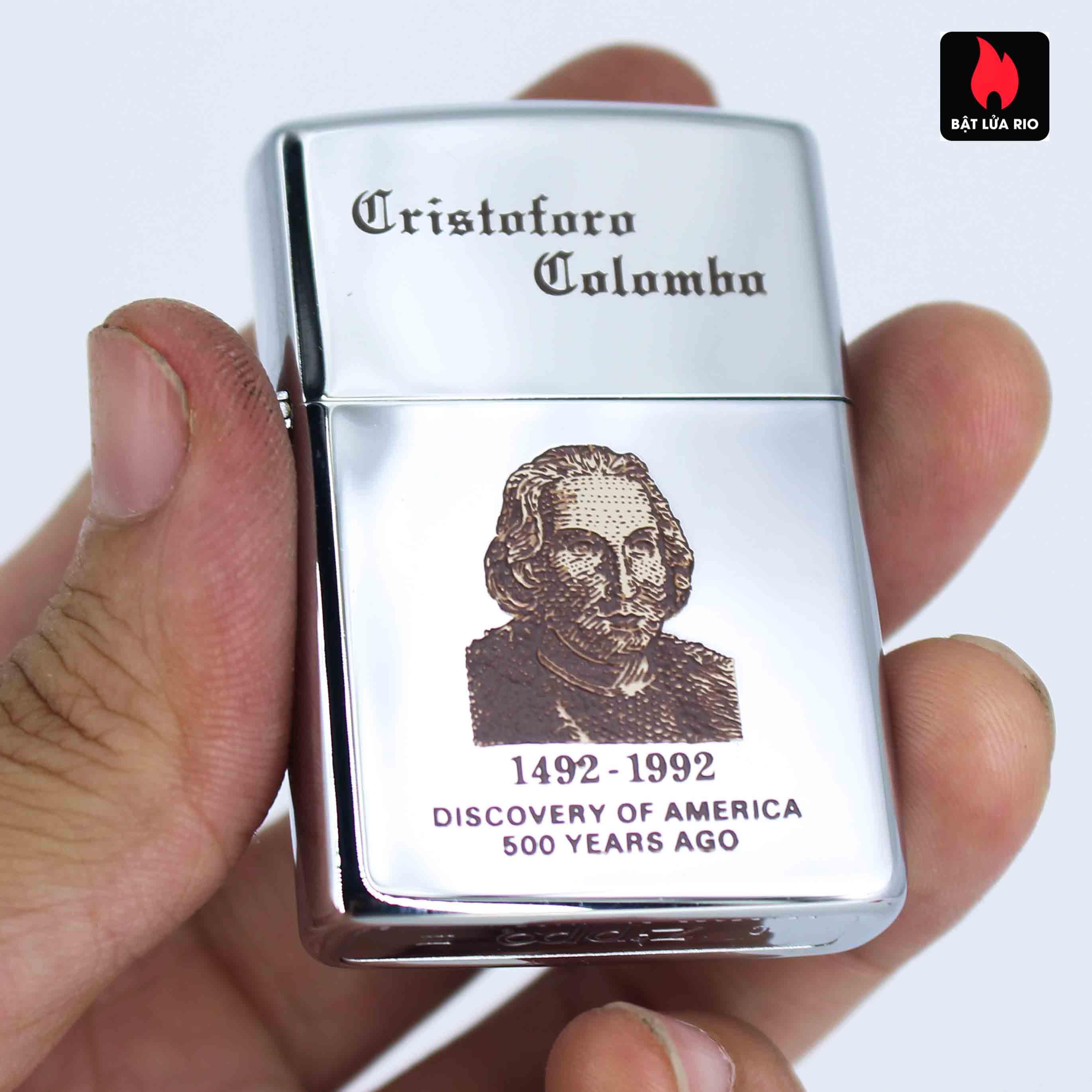 Zippo La Mã 1991 - Cristoforo Colombo 1492-1992 2