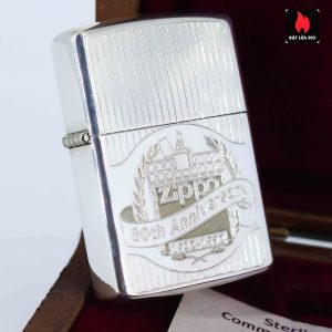 Zippo La Mã 1991 - Sterling Silver - 60th Anniversary Limited Edition