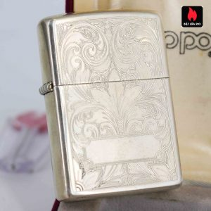 Zippo La Mã 1994 - Sterling Silver - Zippo Sterling Floral