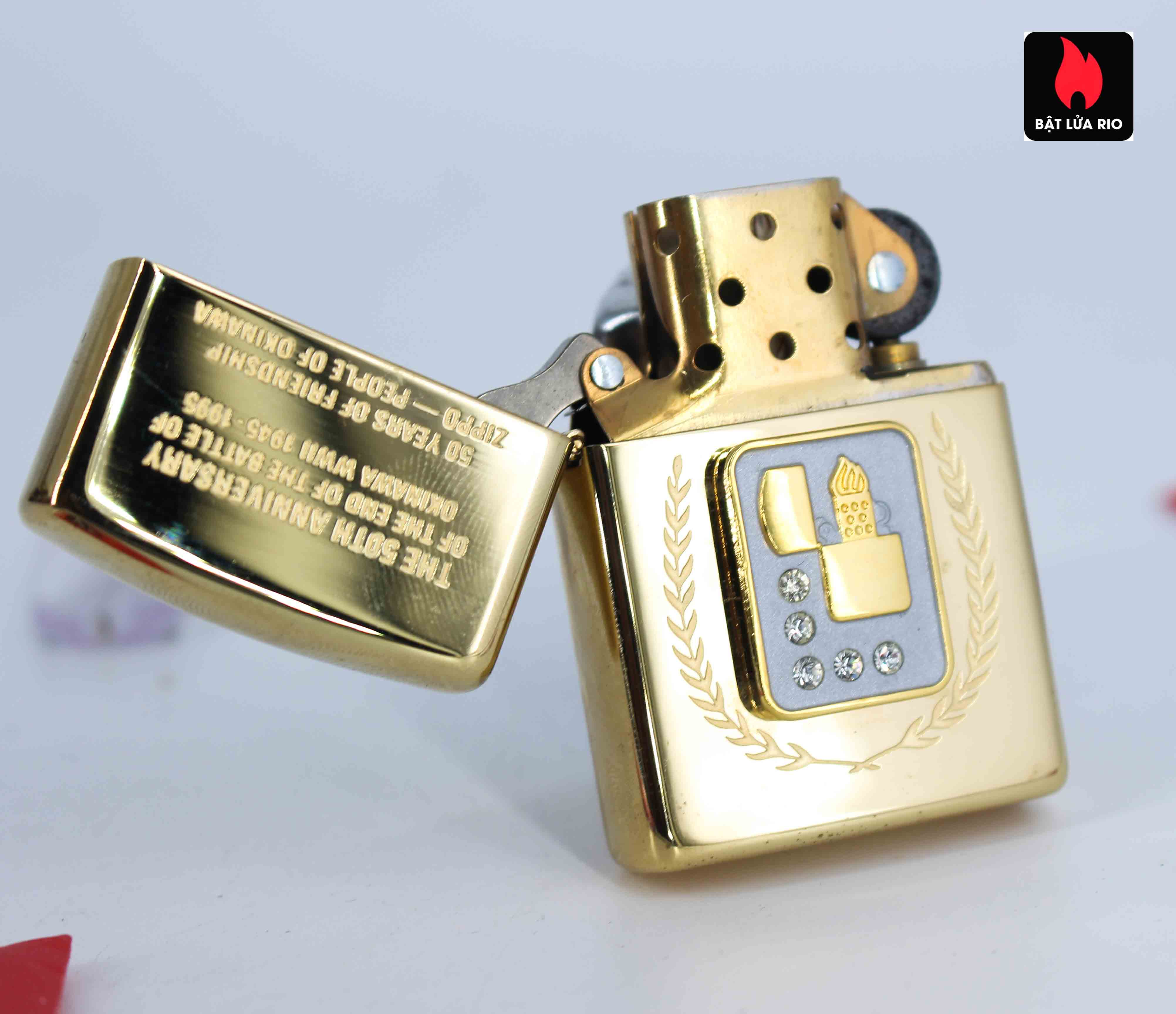 Zippo La Mã 1995 - 50th Anniversary Of The And Of The Battle Of Okinawa WWII 1945-1995 1