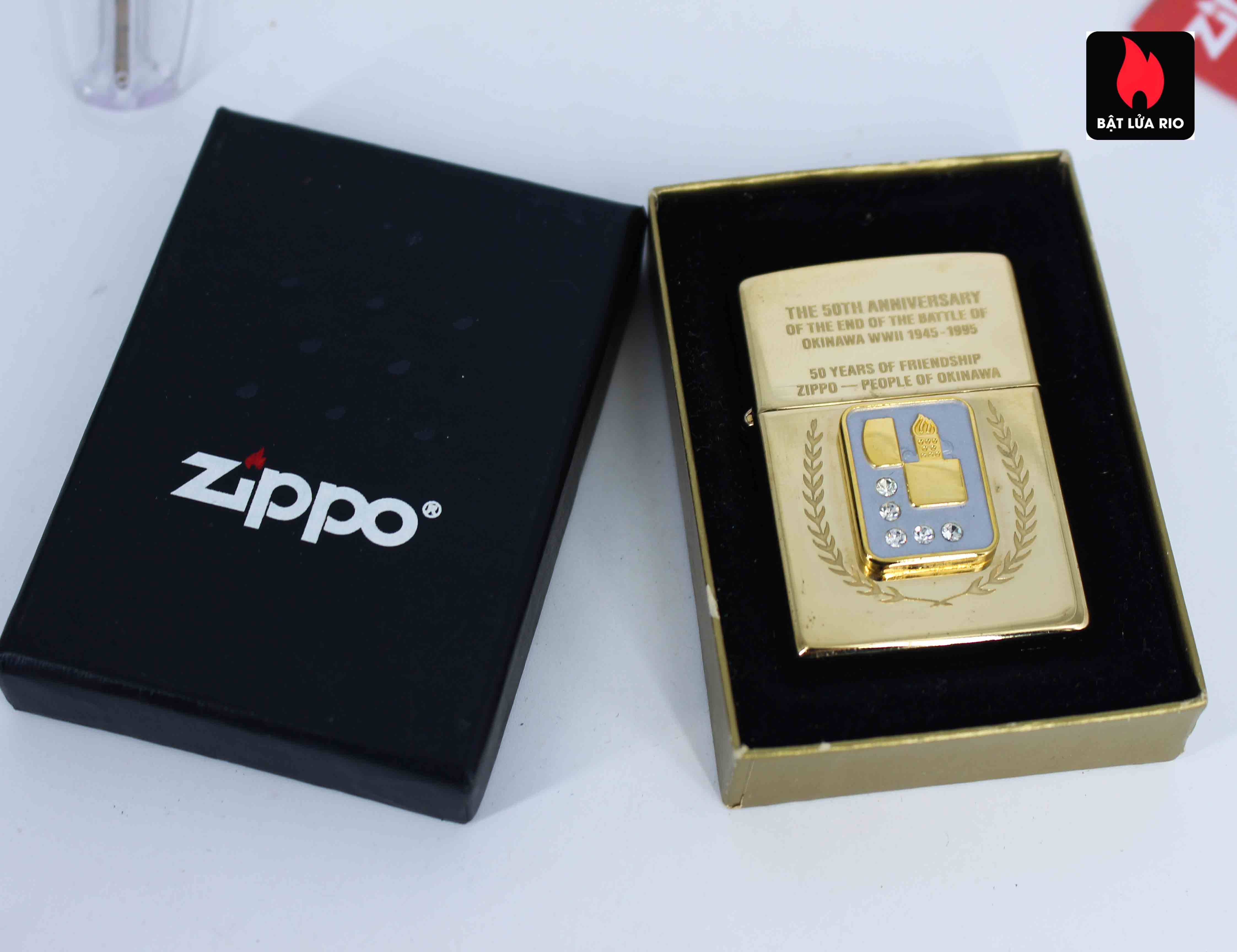Zippo La Mã 1995 - 50th Anniversary Of The And Of The Battle Of Okinawa WWII 1945-1995 3