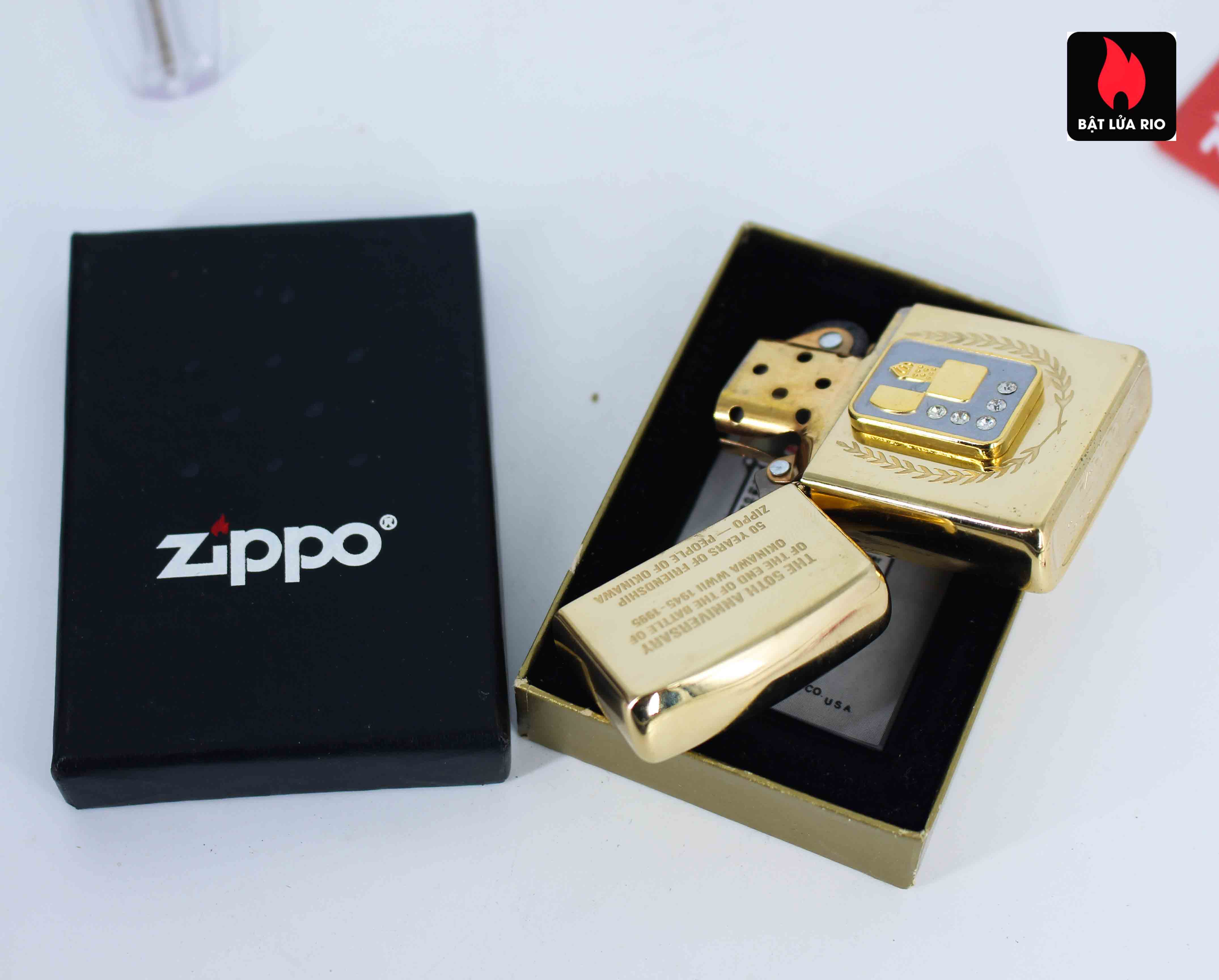 Zippo La Mã 1995 - 50th Anniversary Of The And Of The Battle Of Okinawa WWII 1945-1995 4