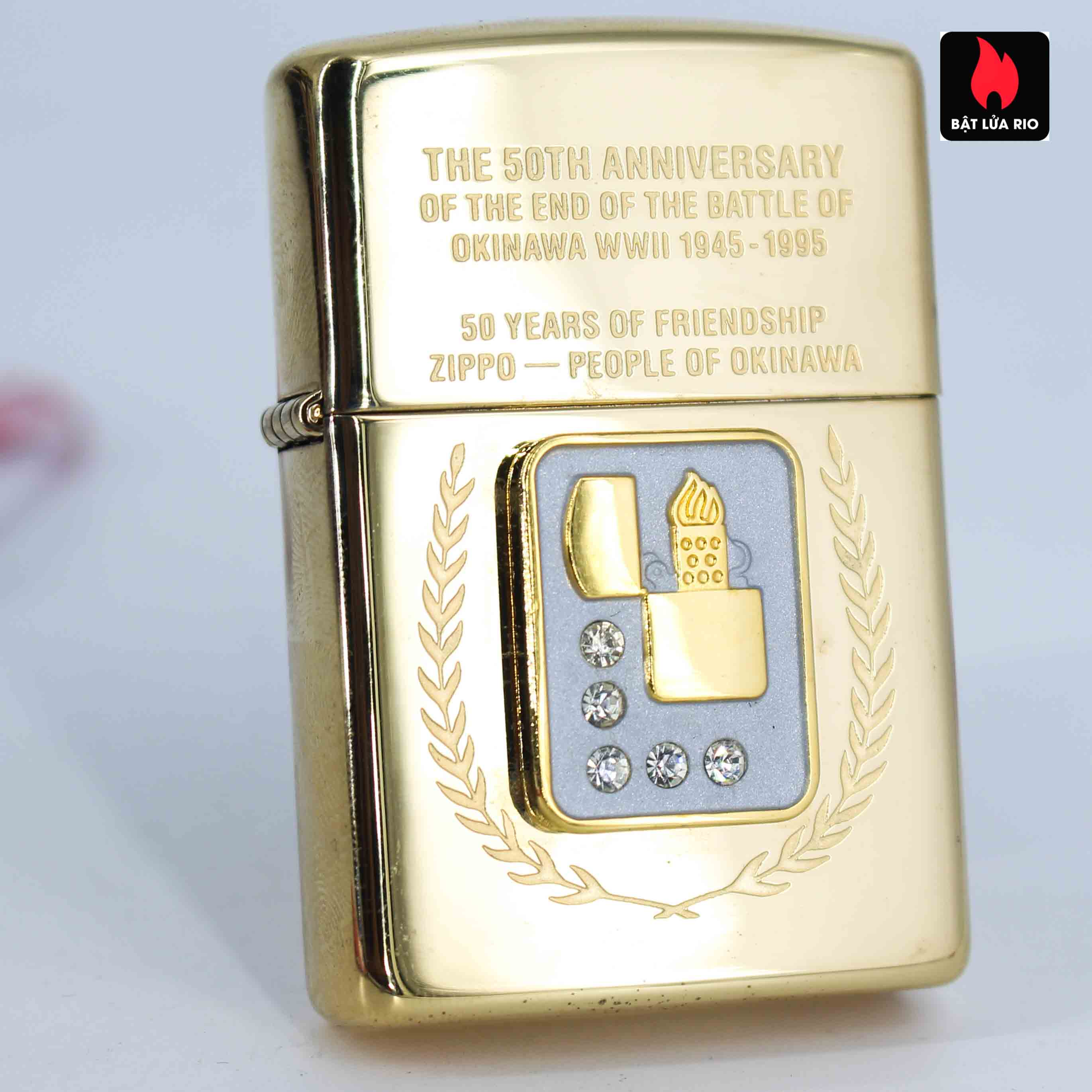 Zippo La Mã 1995 - 50th Anniversary Of The And Of The Battle Of Okinawa WWII 1945-1995
