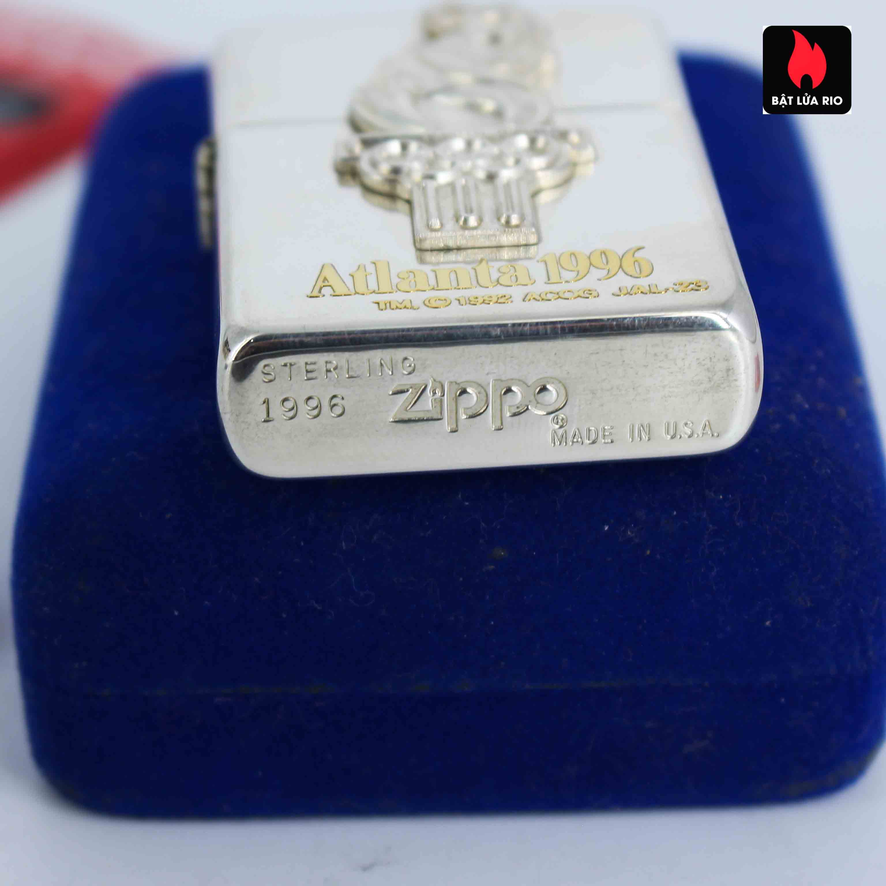 Zippo La Mã 1996 - Sterling Silver - Atlanta 1996 7