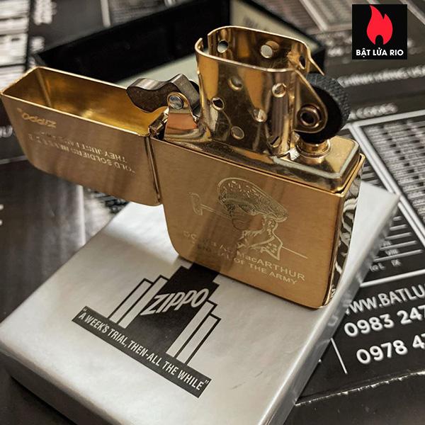 Zippo Replica Brass 1941B Khắc Tướng MacArthur - Zippo 1941B.MACARTHUR 6