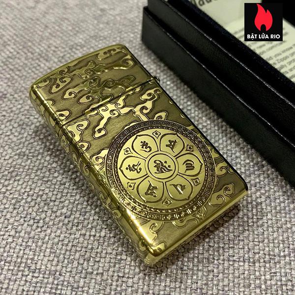 Zippo Slim 1654B Khắc Đức Phật Như Lai 4 Mặt - Zippo 1654B.NHULAI 1