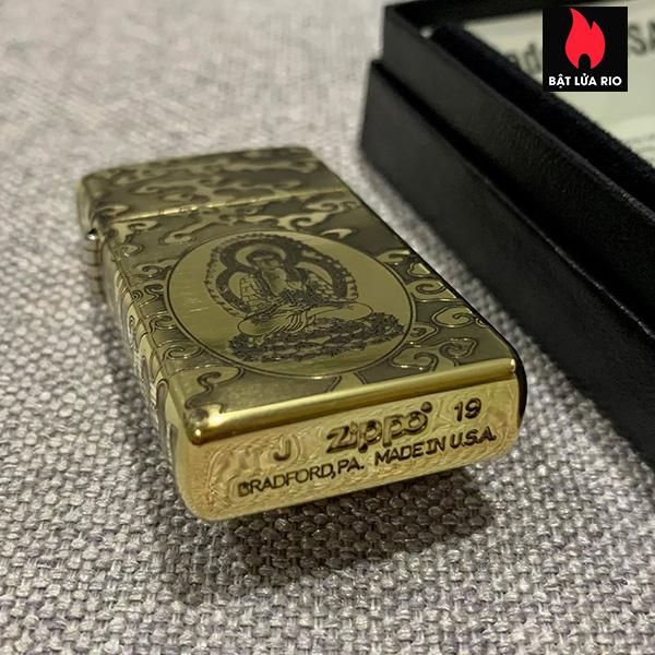 Zippo Slim 1654B Khắc Đức Phật Như Lai 4 Mặt - Zippo 1654B.NHULAI 4