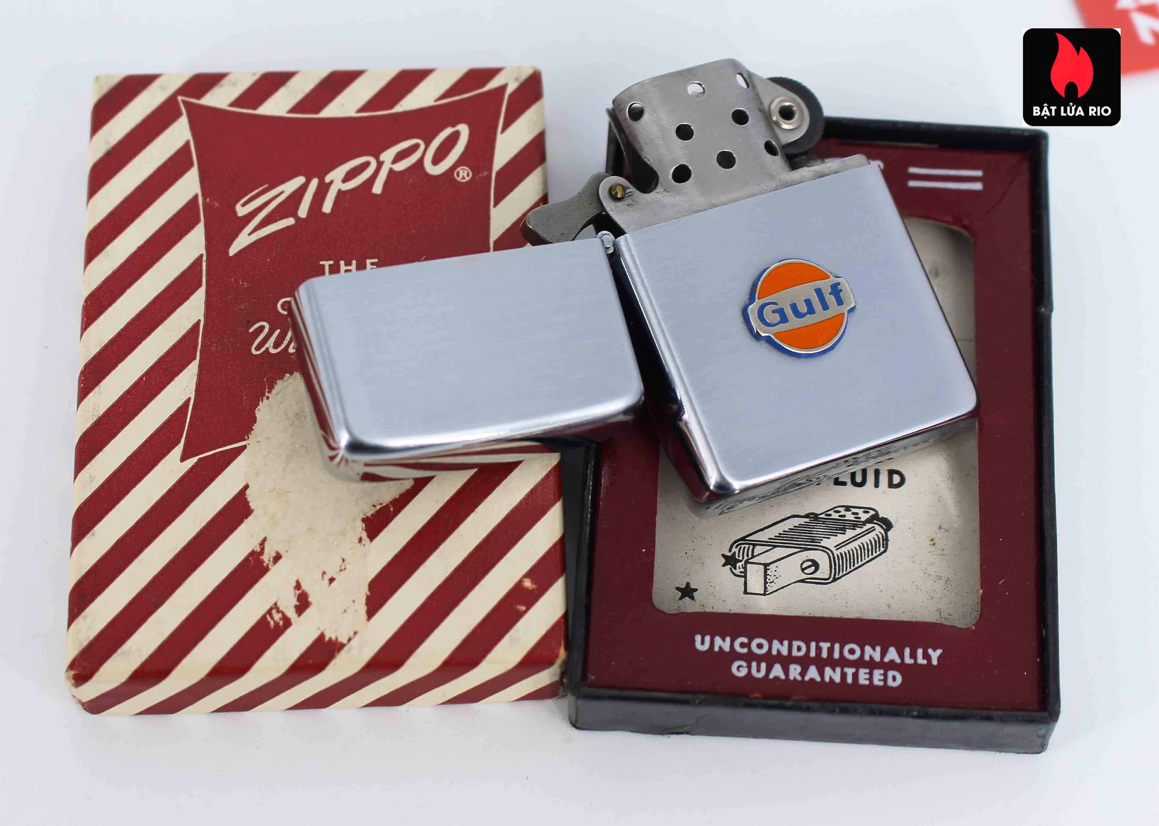 Zippo Xưa 1955-1956 - Gulf Oil 3