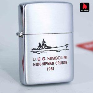 Zippo Xưa 1951 - Uss Missouri Midshipman Cruise 1951
