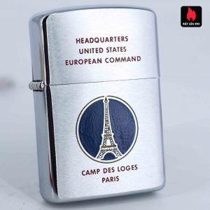 Zippo Xưa 1958 - Camp Des Loges Paris - Headquartes United States European Command