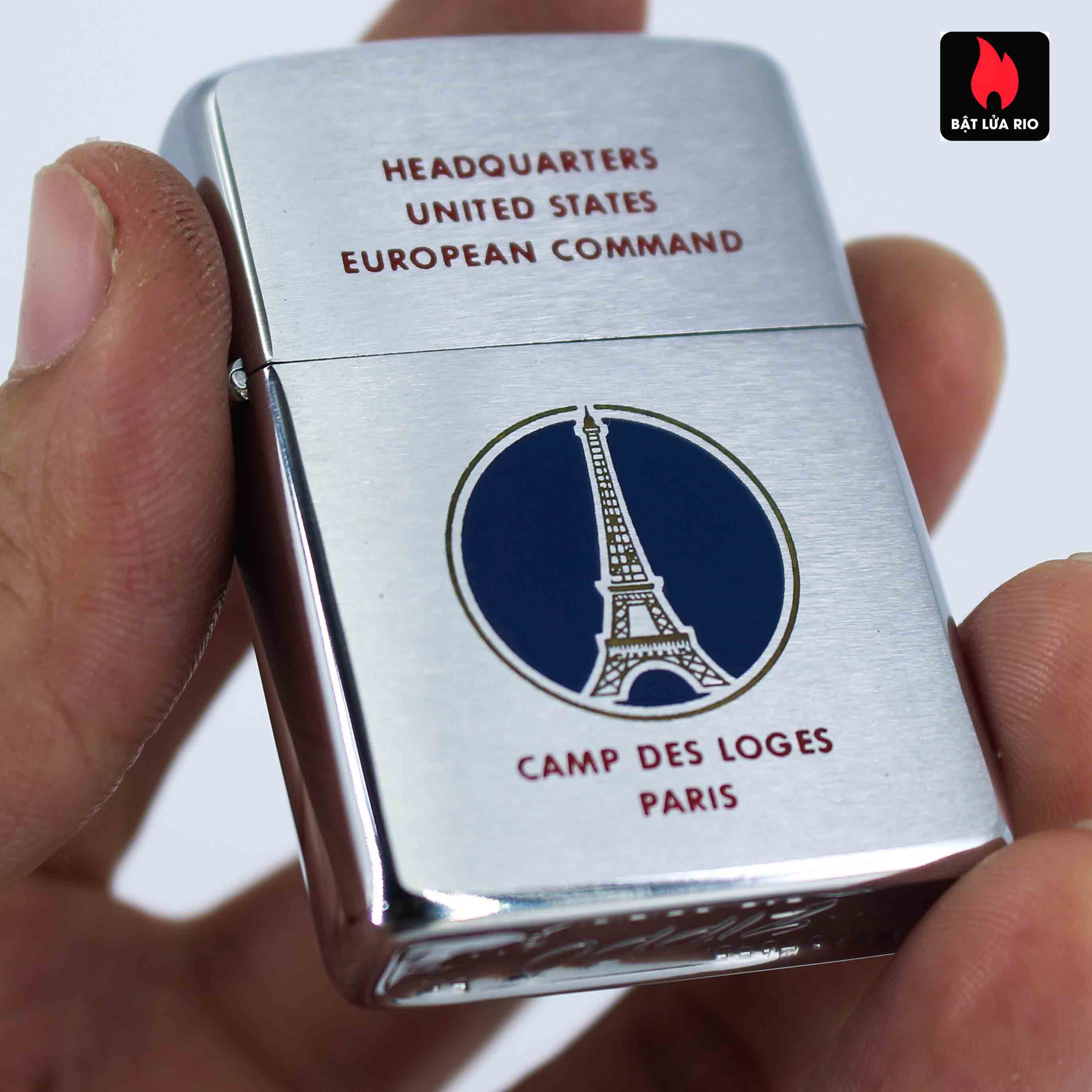 Zippo Xưa 1958 - Camp Des Loges Paris - Headquartes United States European Command 4