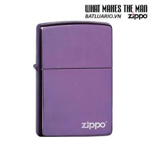 Zippo 24747ZL - Zippo High Polish Purple Zippo Logo