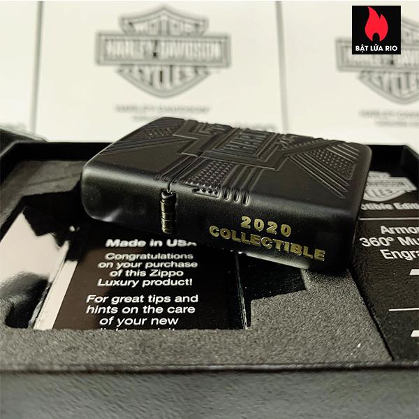 Zippo 49176 - Zippo Harley-Davidson® 2020 Collectible Armor Black Matte 11