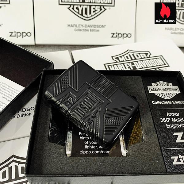 Zippo 49176 - Zippo Harley-Davidson® 2020 Collectible Armor Black Matte 13