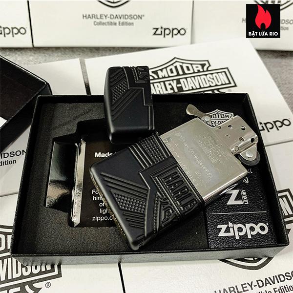 Zippo 49176 - Zippo Harley-Davidson® 2020 Collectible Armor Black Matte 17
