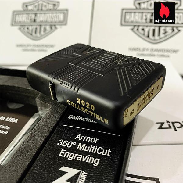 Zippo 49176 - Zippo Harley-Davidson® 2020 Collectible Armor Black Matte 19
