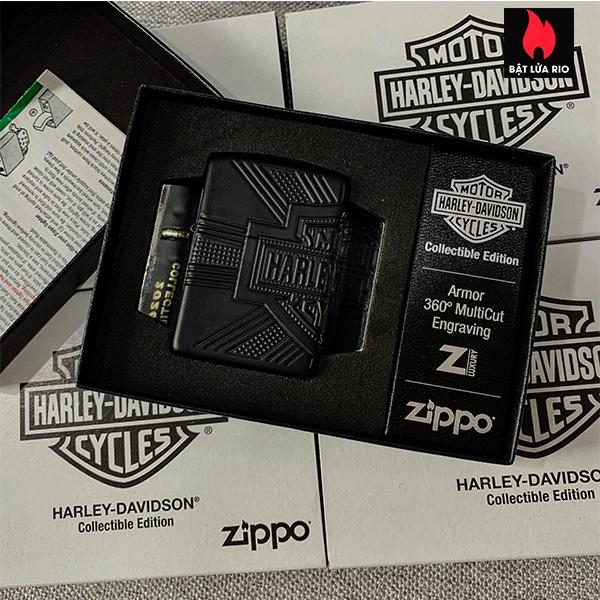 Zippo 49176 - Zippo Harley-Davidson® 2020 Collectible Armor Black Matte 9