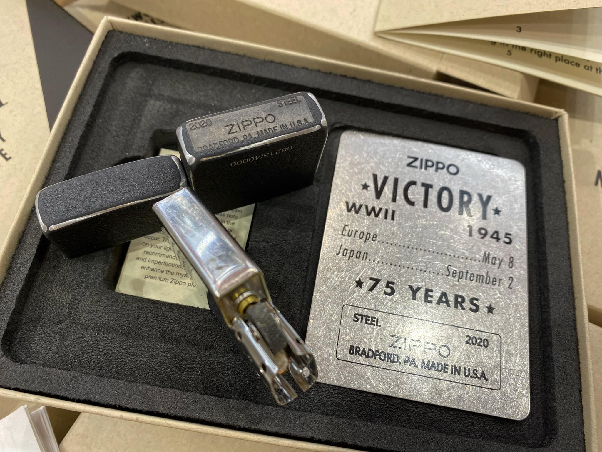 Zippo VE/VJ 75th Anniversary Collectible Steel Case - Zippo Victory in Europe & Japan Collectible Lighter - Zippo 49264 23