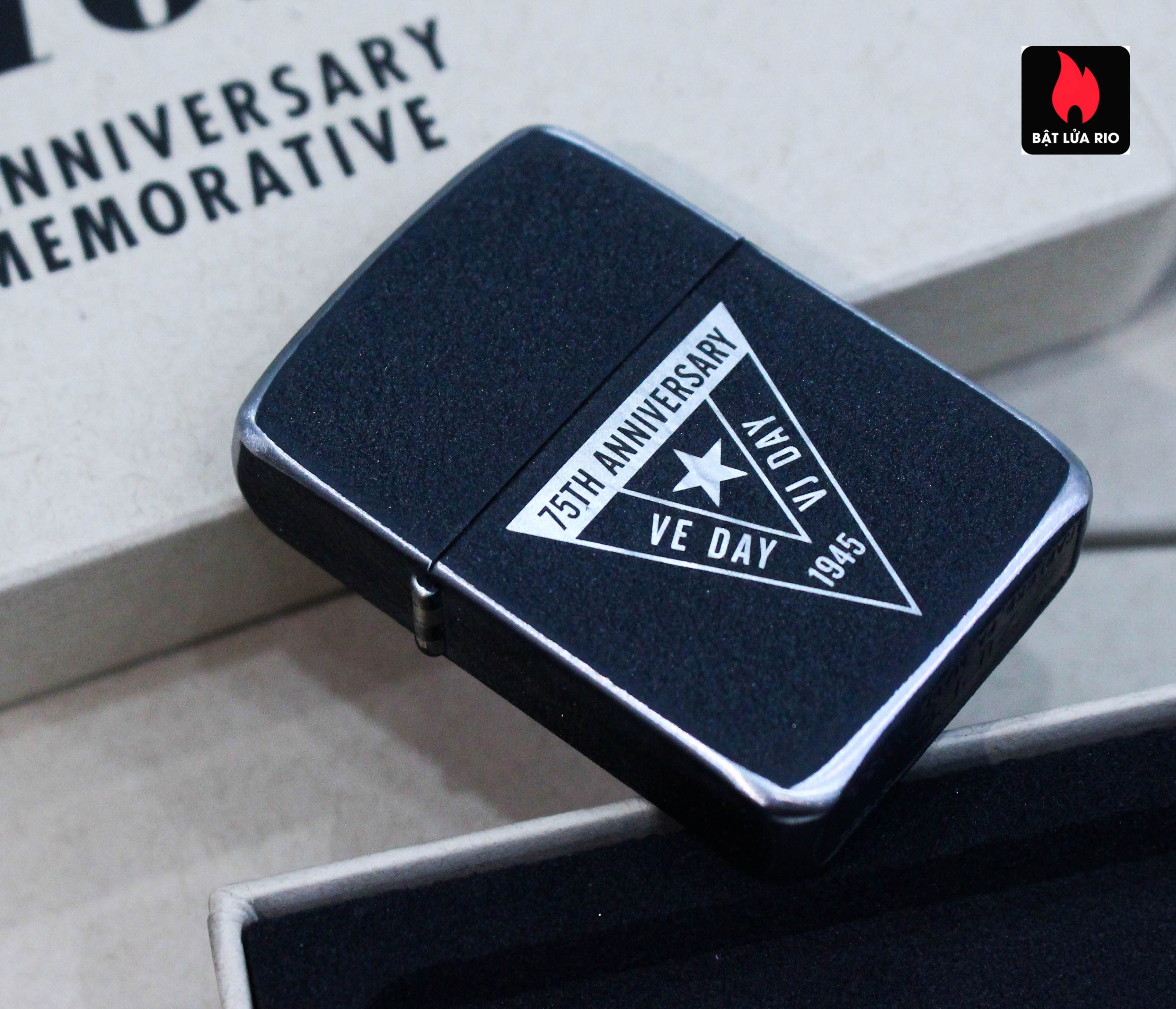 Zippo VE/VJ 75th Anniversary Collectible Steel Case - Zippo Victory in Europe & Japan Collectible Lighter - Zippo 49264 38