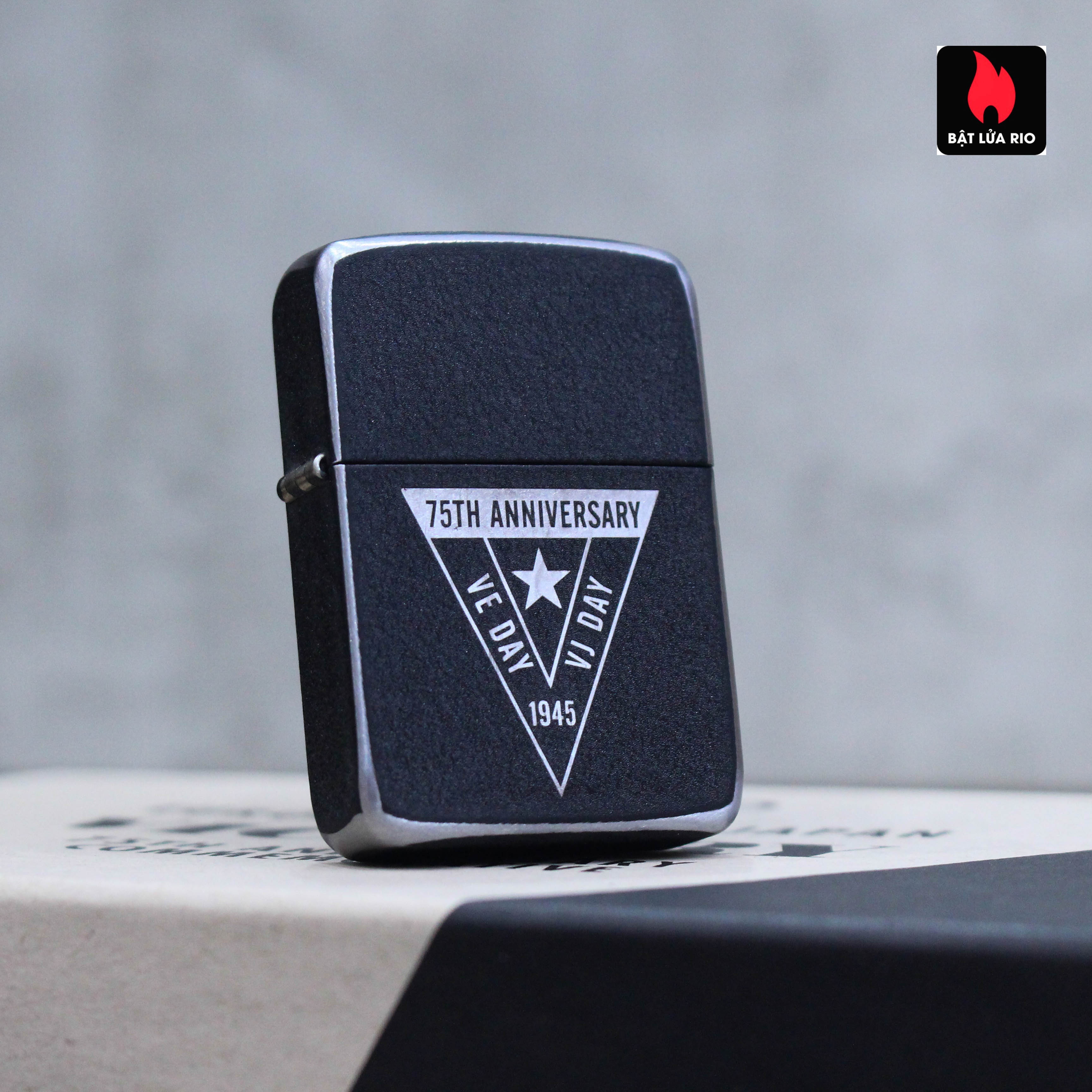 Zippo VE/VJ 75th Anniversary Collectible Steel Case - Zippo Victory in Europe & Japan Collectible Lighter - Zippo 49264 62