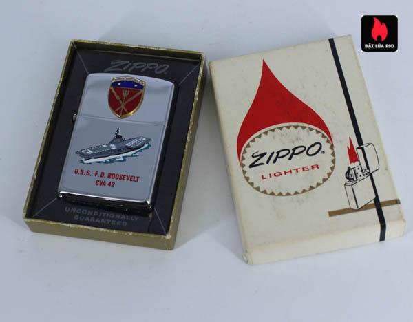 Zippo Xưa 1966 - Town & Country - Uss F.D Roosevelt CVA 42 1