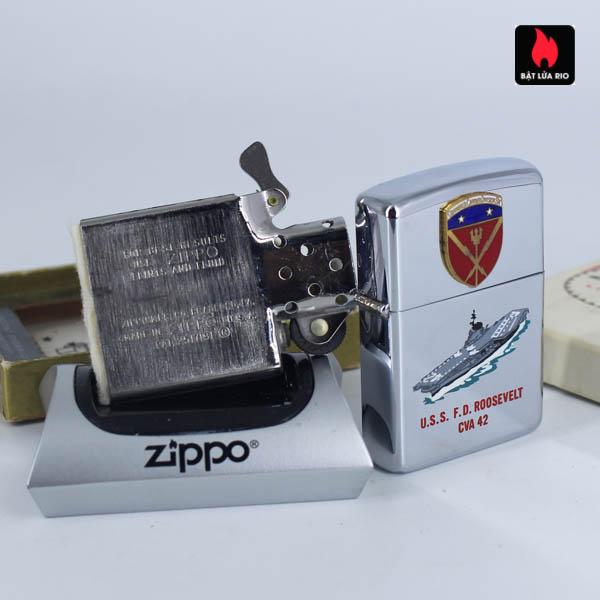 Zippo Xưa 1966 - Town & Country - Uss F.D Roosevelt CVA 42 10
