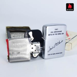 Zippo Xưa 1967 - 25th Anniversary Battle Of The Coral Sea - Chief Of Naval Operations 11