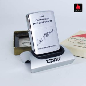 Zippo Xưa 1967 - 25th Anniversary Battle Of The Coral Sea - Chief Of Naval Operations