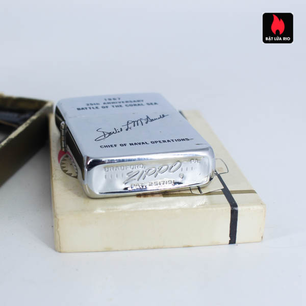 Zippo Xưa 1967 - 25th Anniversary Battle Of The Coral Sea - Chief Of Naval Operations 8