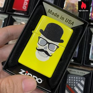 Zippo 24839 Skull With Glasses
