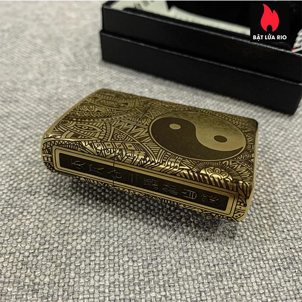 Zippo Gold Dust 207G Khắc Bát Quái Âm Dương Ngũ Hành 4 Mặt - Zippo 207G.AMDUONG03 4