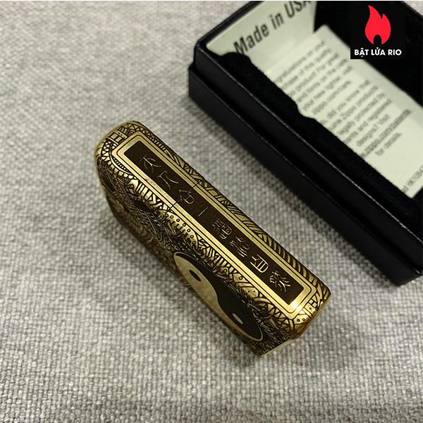 Zippo Gold Dust 207G Khắc Bát Quái Âm Dương Ngũ Hành 4 Mặt - Zippo 207G.AMDUONG03 6