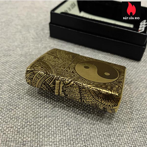 Zippo Gold Dust 207G Khắc Bát Quái Âm Dương Ngũ Hành 4 Mặt - Zippo 207G.AMDUONG03 9