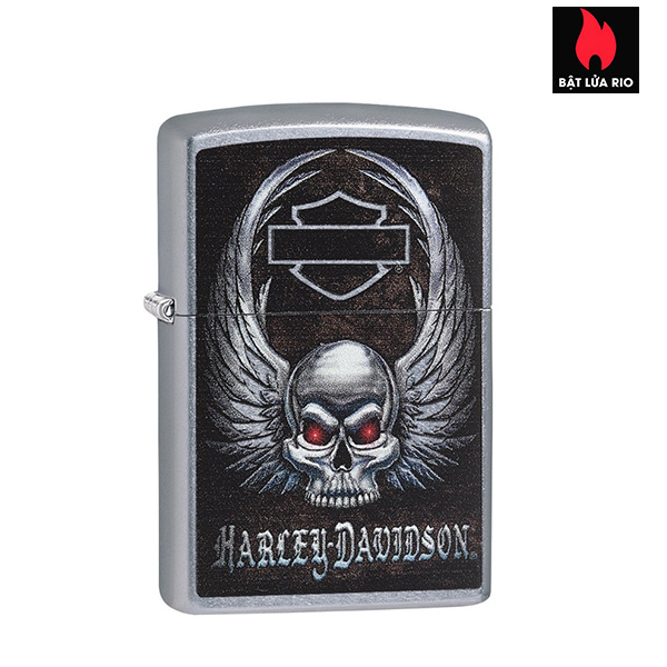 Zippo 29558 - Zippo Harley-Davidson® Skull Street Chrome
