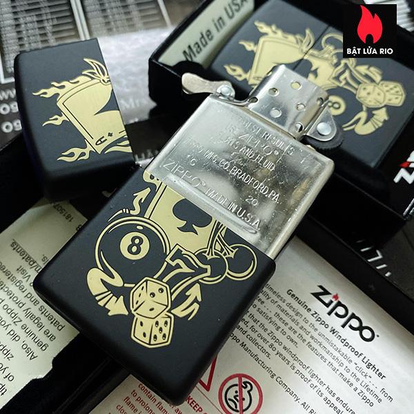 Zippo 49257 - Zippo Gambling Design Black Matte 8