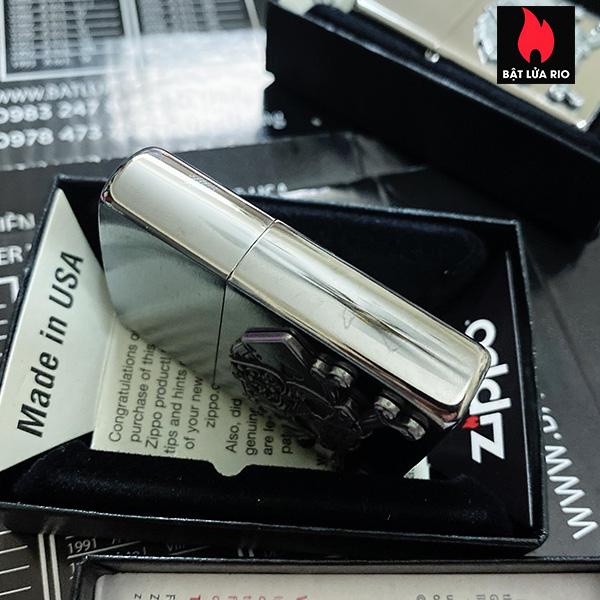 Zippo 49293 - Zippo Cards and Skull Emblem Brushed Chrome 8