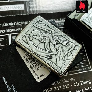 Zippo 49296 - Zippo Dragon on Rock Emblem Street Chrome 1