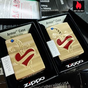 Zippo 49303 - Zippo Heart and Sword Armor High Polish Brass 1