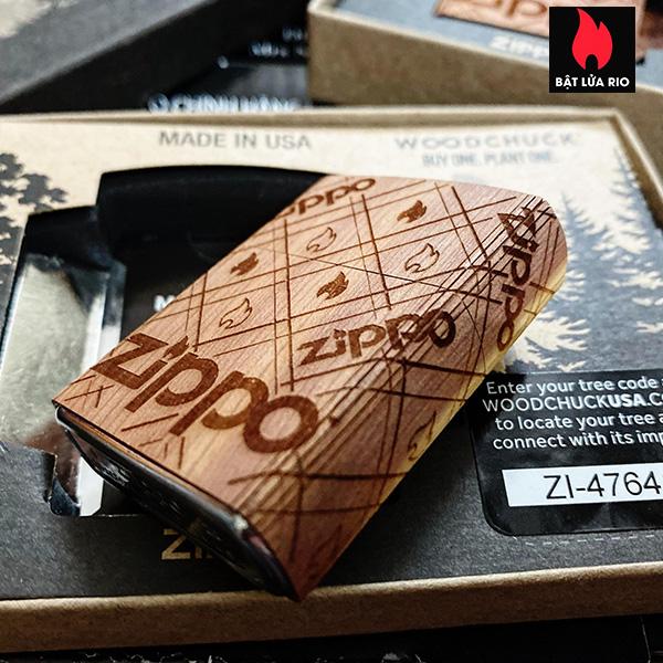Zippo 49331 - Zippo WOODCHUCK USA Zippo Cedar Wrap 10