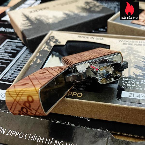 Zippo 49331 - Zippo WOODCHUCK USA Zippo Cedar Wrap 13