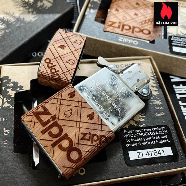 Zippo 49331 - Zippo WOODCHUCK USA Zippo Cedar Wrap 15