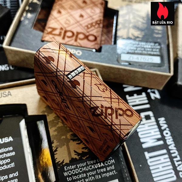 Zippo 49331 - Zippo WOODCHUCK USA Zippo Cedar Wrap 7