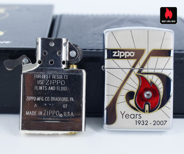 Zippo 2007 – 75th Anniversary Edition – China – Limited CHN 1 Of 3888 8
